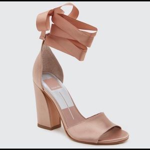 Dolce Vita satin ankle wrap pumps